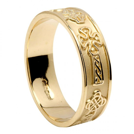 Gold Celtic Cross Ring