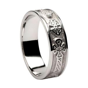Silver Celtic Cross Ring