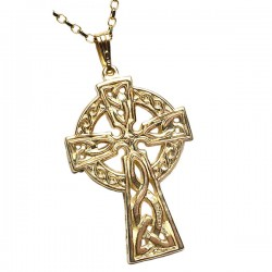 Gold Double Sided Extra Large Celtic Cross