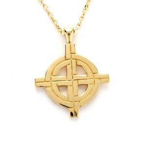 Gold Ogham Large Old St.Pat's Chicago Cross
