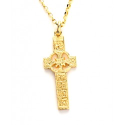 Gold Ogham Saint Patrick and Columba Kells High Cross