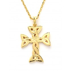 Gold Trinity Knot Cross