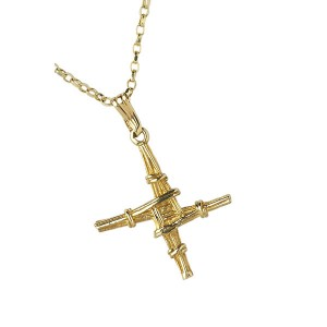 Small Gold Saint Bridgets Cross