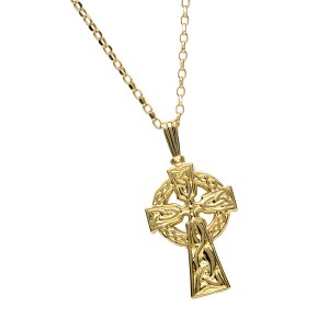 Gold Double Sided Cross No Stones