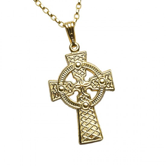 Gold Double Sided Large Celtic Cross