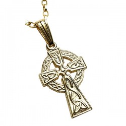 Gold Double Sided Small Celtic Cross