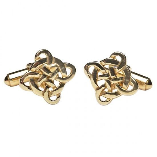 Gold Filigree Celtic Cross Cuff Links