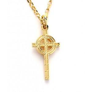 Gold Ogham Small Old St.Pat's Chicago Cross
