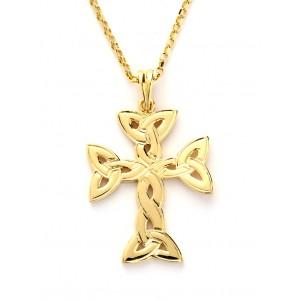 Gold Trinity Knot Cross