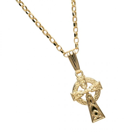 Small Gold Double Sided Cross