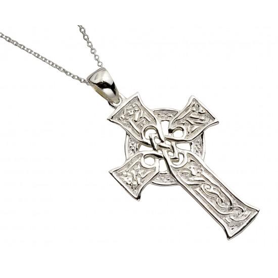 Silver Carved Four Gospels Cross
