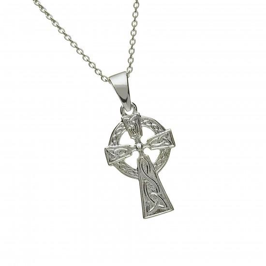 Silver Double Sided Celtic Cross