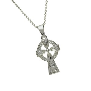 Silver Double Sided Celtic Cross