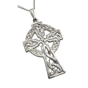 Silver Double Sided Extra Large Celtic Cross