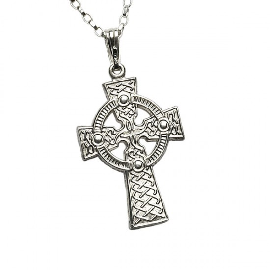 Silver Double Sided Large Celtic Cross