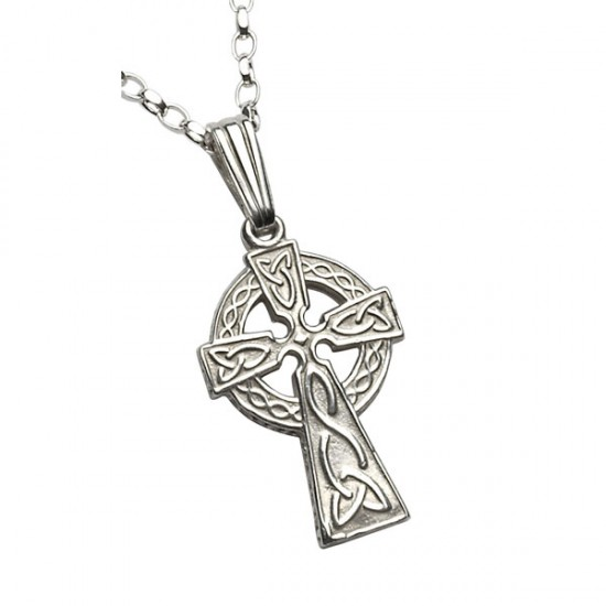 Silver Double Sided Small Celtic Cross