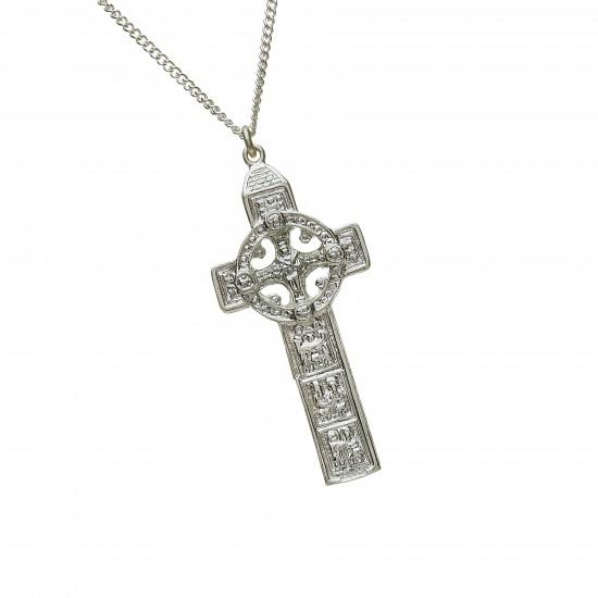 Silver Heavy Duleek Celtic Cross