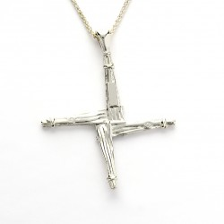 Silver Ogham Cross