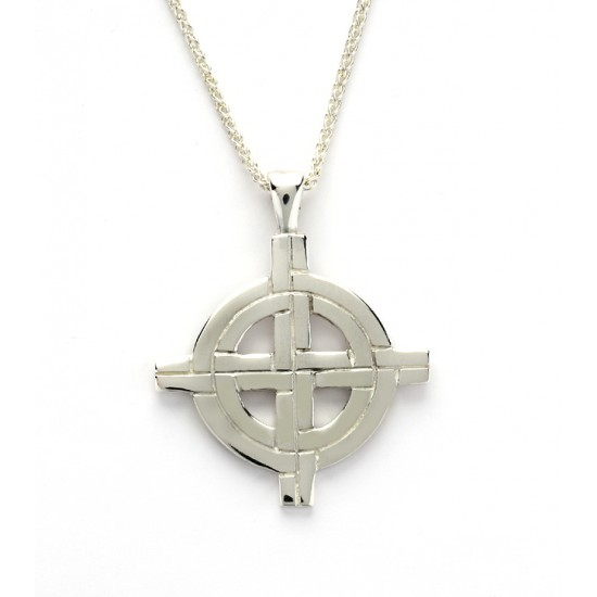 Silver Ogham Large Old St.Pat\'s Chicago Cross