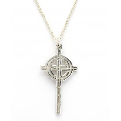 Silver Ogham Large Old St.Pat's Chicago Cross