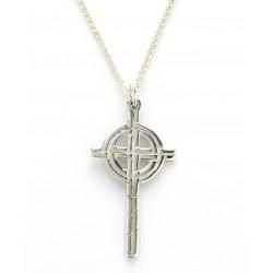 Silver Ogham Large Saint Patricks Chicago Cross