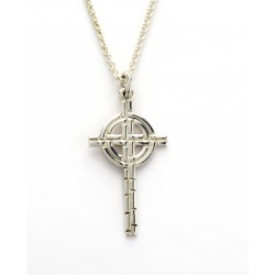 Silver Ogham Medium Old St.Pat's Chicago Cross