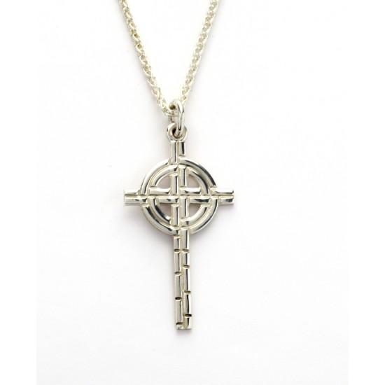 Silver Ogham Medium Old St.Pat\'s Chicago Cross