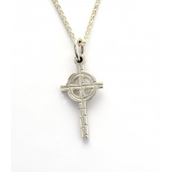 Silver Ogham Small Old St.Pat's Chicago Cross