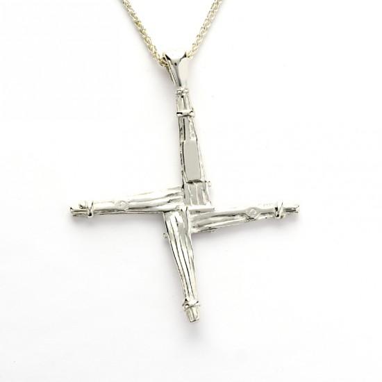 Silver Saint Bridgets Cross