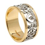 Diamond and Trinity Heart Ring