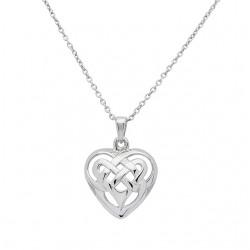Silver Celtic Heart Knot Pendant