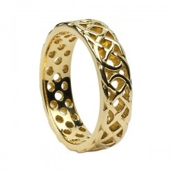 Gold Open Celtic Knot Ring