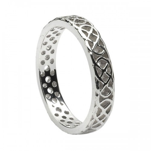 silver round celtic knot wedding ring - Celtic Knot Wedding Rings