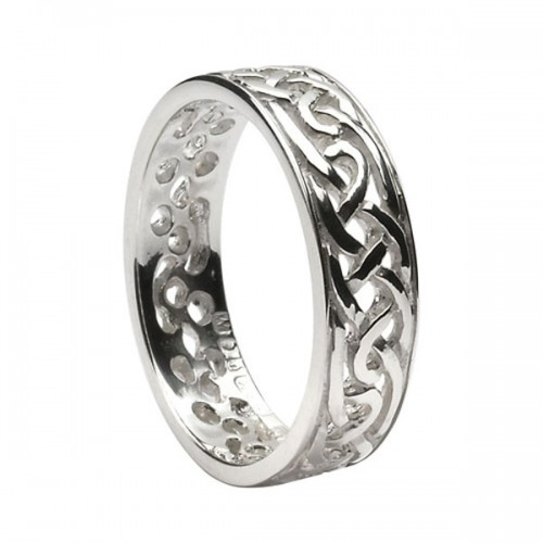 silver spiral celtic knot wedding ring - Celtic Knot Wedding Rings