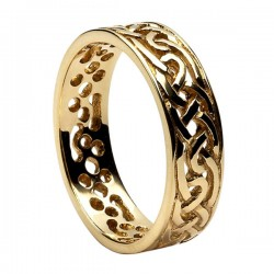 Gold Round Celtic Knot Wedding Ring