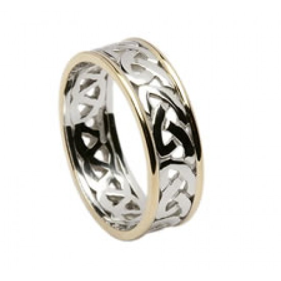Celtic Open Knot Wedding Band with Trims