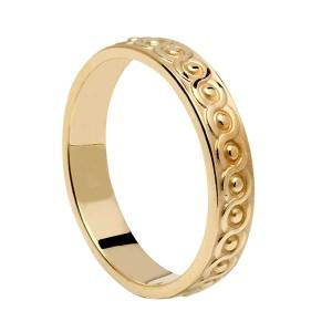 Gold Celtic Knot Wedding Band