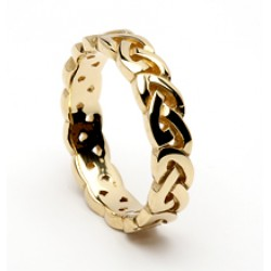 Gold Open Celtic Knot Wedding Band