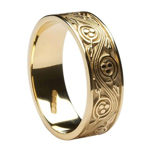 Gold Celtic Spiral Ring
