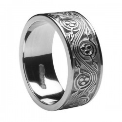 Silver Celtic Spiral Wedding Band