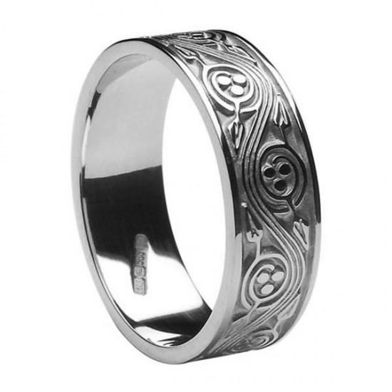 Silver Celtic Spiral Wedding Band