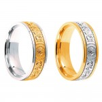 Gold Warrior Shield Signature 6mm Wedding Bands