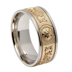 Gold Celtic Warrior Signature Wedding Ring