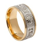 Wide Celtic Warrior Signature Wedding Band