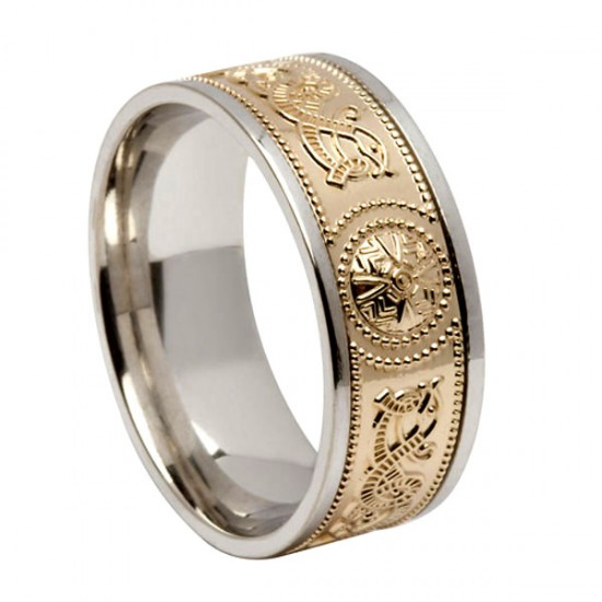 Gold Celtic Warrior Signature Wedding Ring