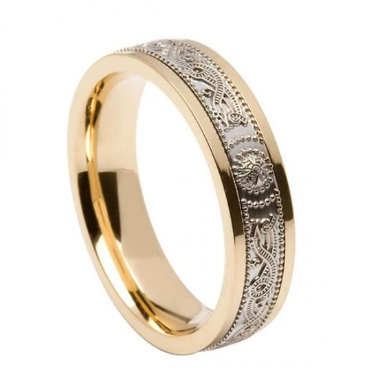 Gold Signature Warrior Shield Wedding Ring