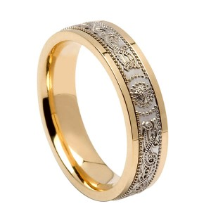 Gold Signature Warrior Shield Wedding Ring