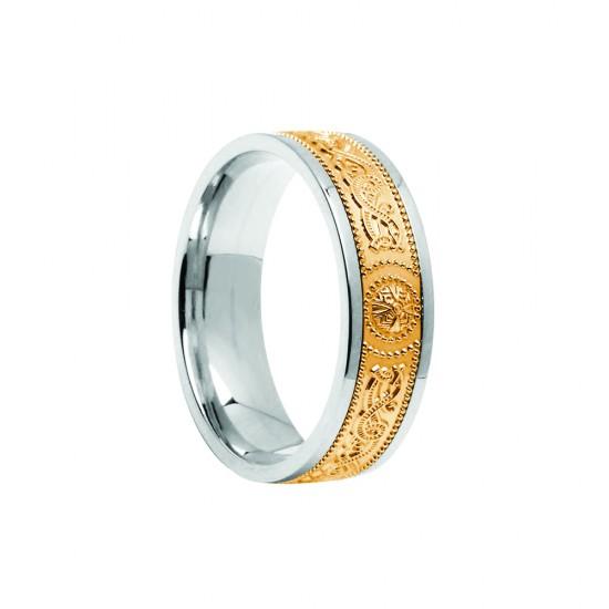 Gold Warrior Shield Signature 6mm Wedding Bands