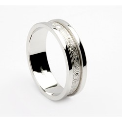 Silver Celtic Shield Wedding Band