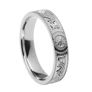 Sterling Silver Warrior Shield Wedding Ring